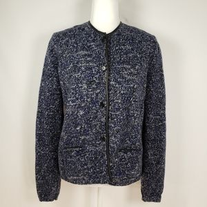 JIL SANDER Virgin Wool Cardigan with Pockets